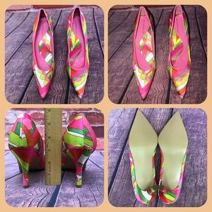 NWOT Rampage Colorful Pointed Toe Pump